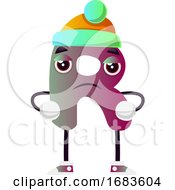 Purple Letter R With Green Hat