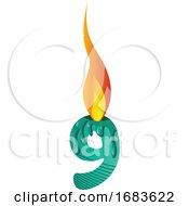 Green Number Nine Burning