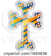 Colorful Armenian Cross