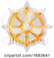 Yellow Buddhist Symbol