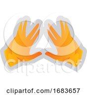 Poster, Art Print Of Yellow Kohen Hands