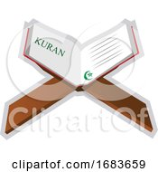 Illustration Of A Holy Book Quran
