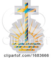 Blue And Yellow Symbol Of A New Apostolic Religion