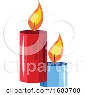 Burning Candles Chinese New Year Illustration