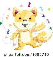 10/12/2019 - Cat Celebrating Chinese New Year Illustration