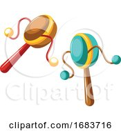 Drums For Celebrations On White Background