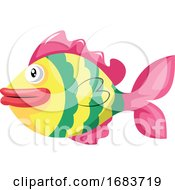 Symbol Of A Fish In A Chinese Culture Illustration