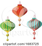 10/12/2019 - Traditional Chinese Lanterns For Chinese New Year Decoration
