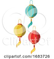 10/12/2019 - Paper Lanterns As A Decoration For Chinese New Year