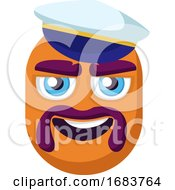 Poster, Art Print Of Sailor Orange Emoji Gace Illustration