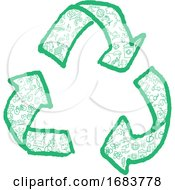 Recycling Symbol With Hand Drawn Symbol Element by Domenico Condello