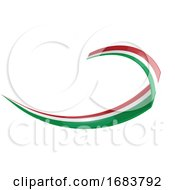 Italian and Mexican Shape Wave Flag by Domenico Condello #COLLC1683792-0191