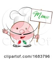 Chef Holding A Menu Sign
