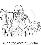 Viking Trojan Celtic Knight Tennis Warrior Woman