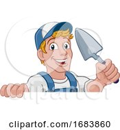 10/11/2019 - Trowel Construction Site Cartoon Builder Handyman