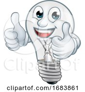 10/11/2019 - Light Bulb Cartoon Character Lightbulb Mascot
