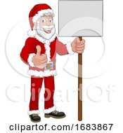 10/11/2019 - Young Santa Claus Holding Sign Christmas Cartoon