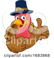 10/11/2019 - Turkey Pilgrim Hat Thanksgiving Cartoon Character