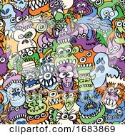 Voracious Monsters Halloween Pattern by Zooco #COLLC1683869-0152