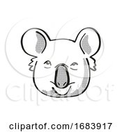 10/13/2019 - Koala Or Phascolarctos Cinereus Endangered Wildlife Cartoon Mono Line Drawing