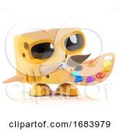 Poster, Art Print Of 3d Cheese Is An Artist
