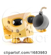 Poster, Art Print Of 3d Cheese Bomb