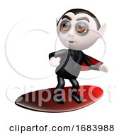 Poster, Art Print Of 3d Surfing Dracula