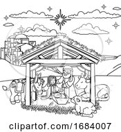 10/14/2019 - Nativity Scene Christmas Cartoon