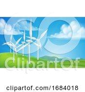 Poster, Art Print Of Wind Turbines Generating Energy