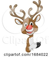 10/14/2019 - Christmas Reindeer Cartoon Character