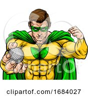 10/14/2019 - Superhero Holding Golf Ball Sports Mascot