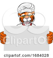 10/14/2019 - Tiger Chef Cartoon Restaurant Mascot Sign