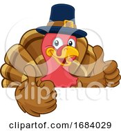 10/14/2019 - Turkey Pilgrim Hat Thanksgiving Cartoon Character