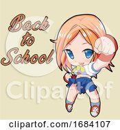 Poster, Art Print Of Manga Girl Ready To Go Back To School