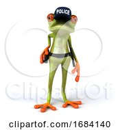 3d Green Springer Police Frog by Julos