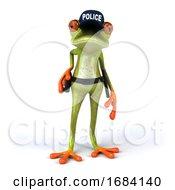 3d Green Springer Police Frog