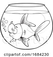 Lineart Goldfish in a Bowl by toonaday #COLLC1684230-0008