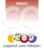Christmas Bingo Poster with Balls and Snow by elaineitalia #COLLC1684241-0046