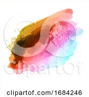 10/20/2019 - Rainbow Watercolour Splatter