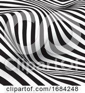 Optical Illusion Striped Background