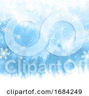 10/20/2019 - Christmas Snowflakes On Watercolour Texture