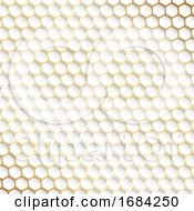 Decorative Gold And White Hexagonal Pattern Background