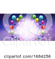 Balloon Banner With Bokeh Lights