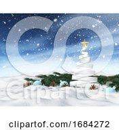 10/19/2019 - 3D Winter Snowy Landscape