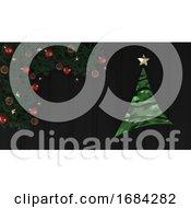 3d Render Christmas Background by KJ Pargeter #COLLC1684282-0055
