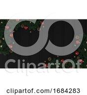3d Render Christmas Background by KJ Pargeter #COLLC1684283-0055