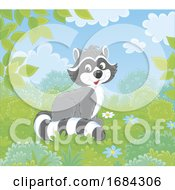 Cute Raccoon by Alex Bannykh #COLLC1684306-0056