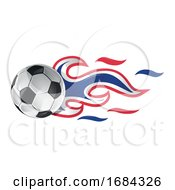 Soccer Ball With Netherlands Flag Flames