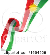 Kurdistan Ribbon Flag