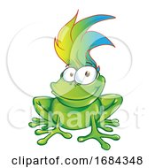 Smiling Frog With Cool Hair
